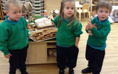 Paddington Bear in Nursery