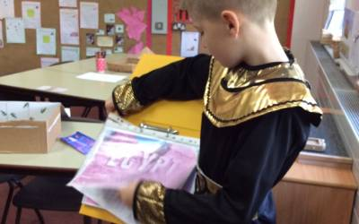 Egyptian Day – sharing our homework projects