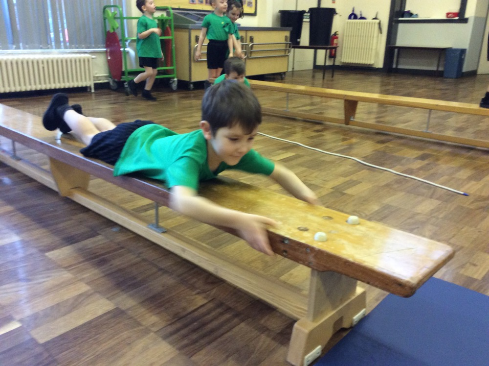 This morning's gymnastics Year 1