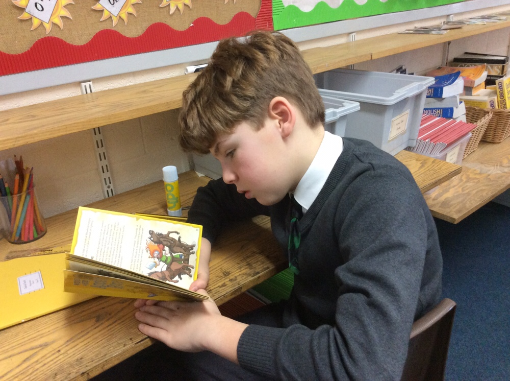 We love reading in Year 5