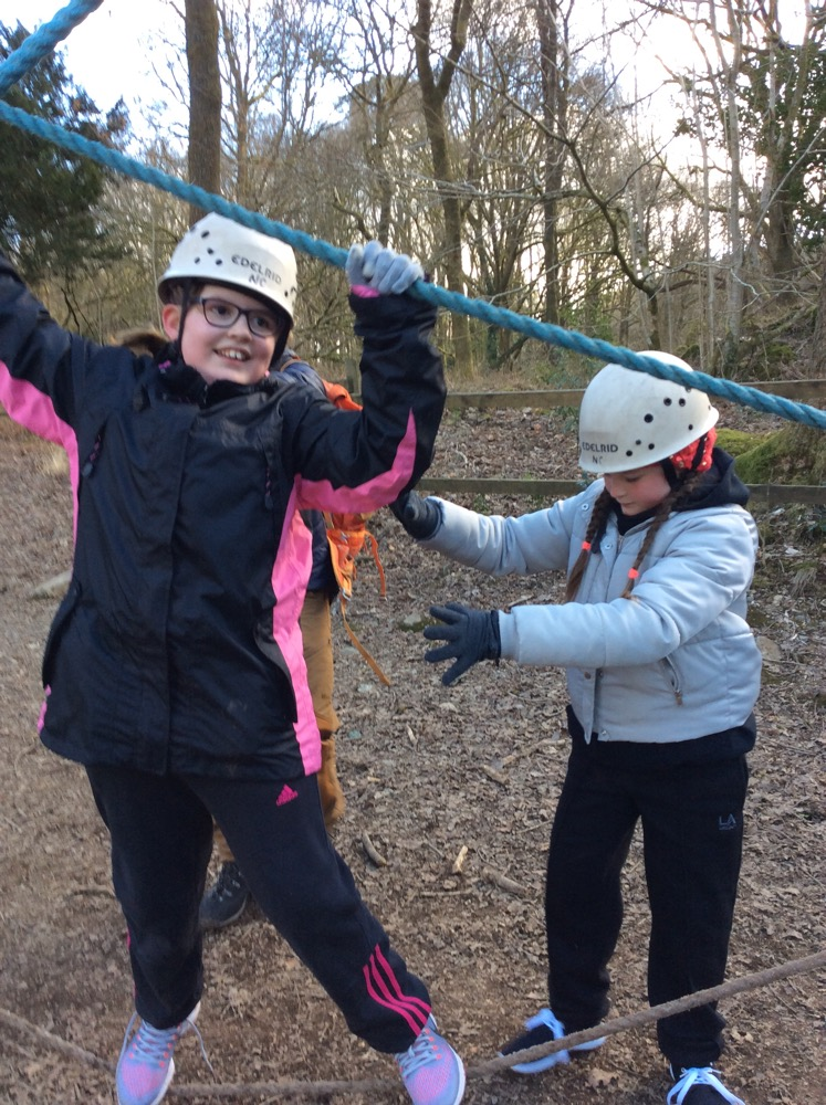 Mrs Boylan's Group on Low Ropes