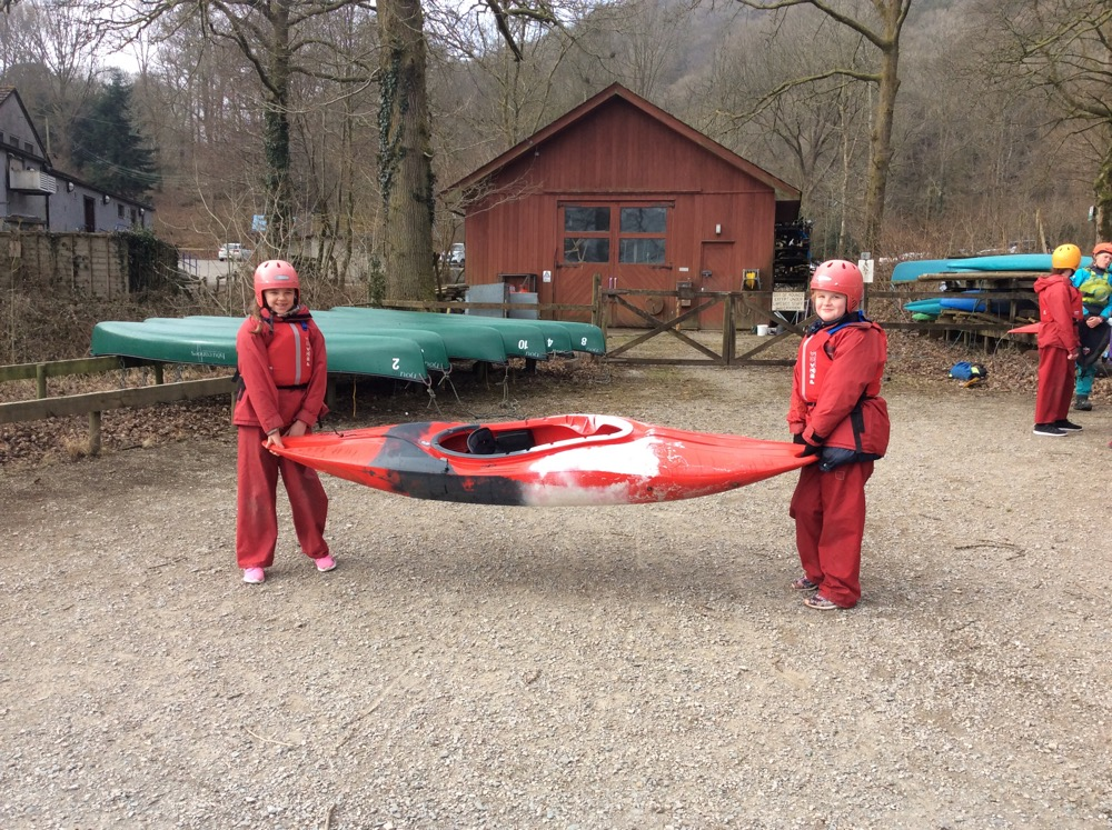 Group one kayaking with Mr Dinsdale