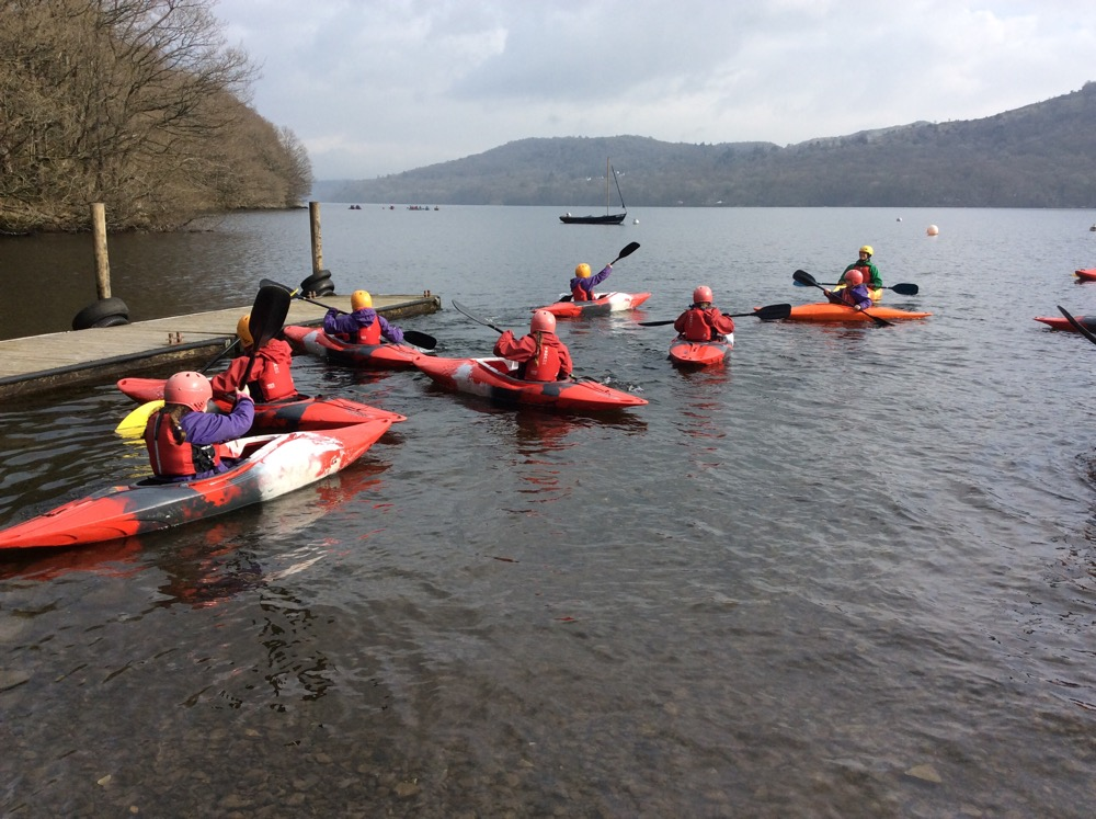 Perfect day for Mrs Boylan's group to go kayaking