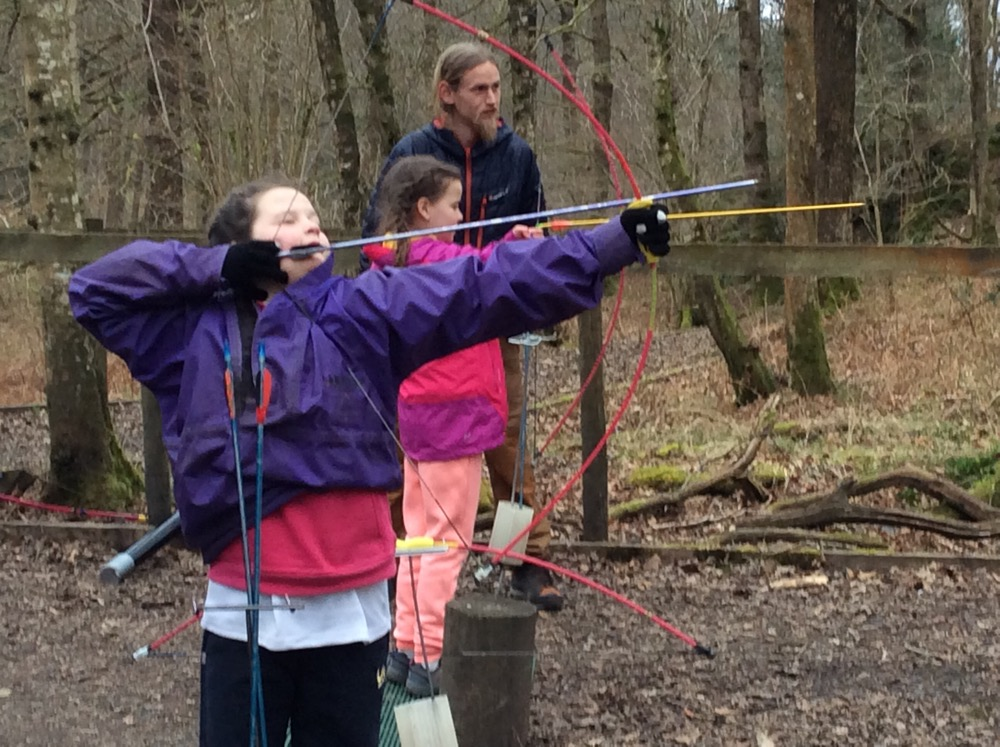 Mrs Boylan's group doing archery