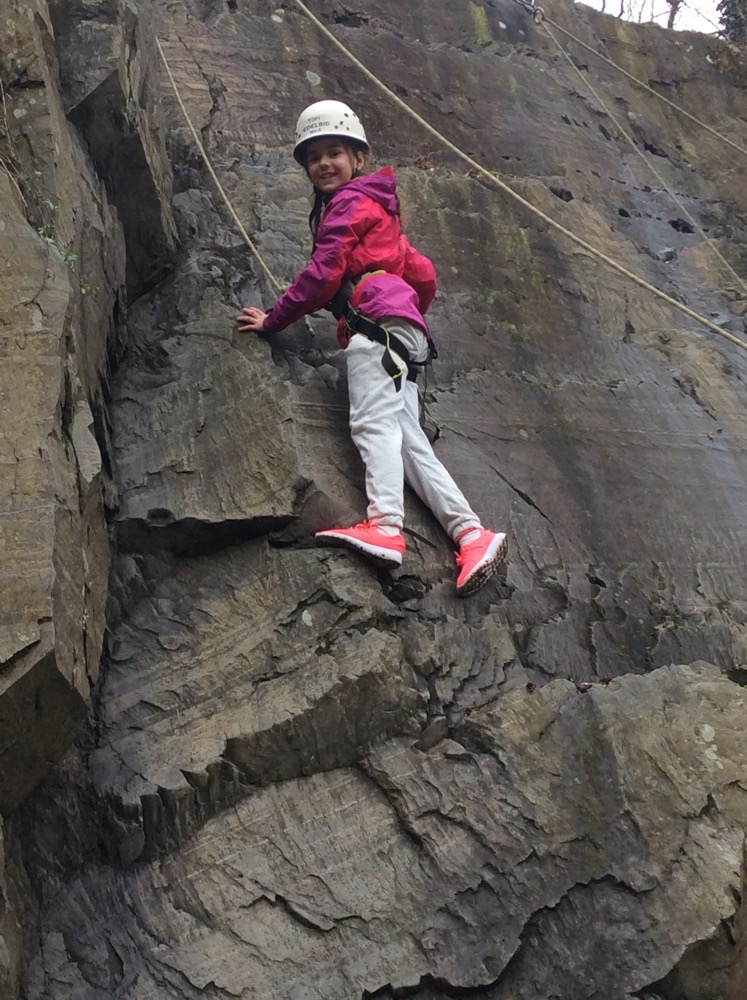 Rock climbing and abseiling with Mrs Boylan