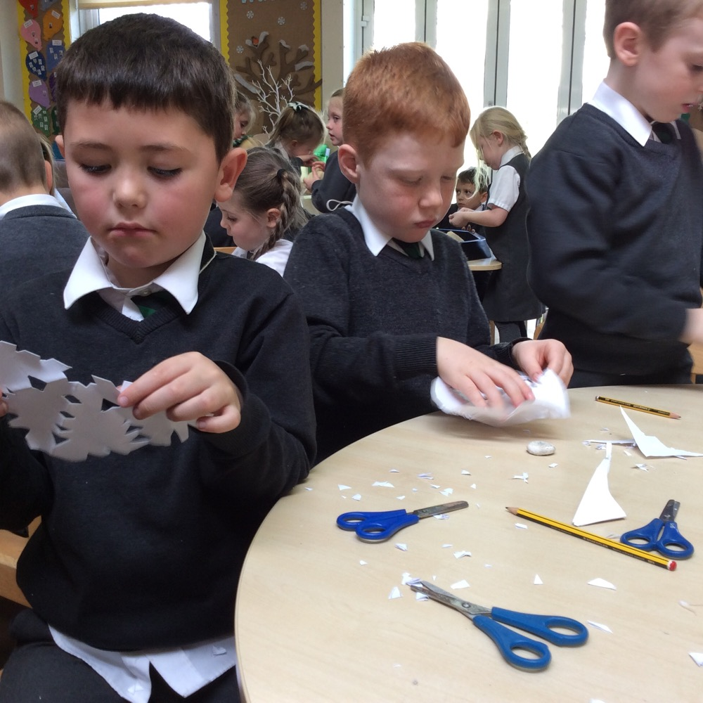 Year One's snow inspired art
