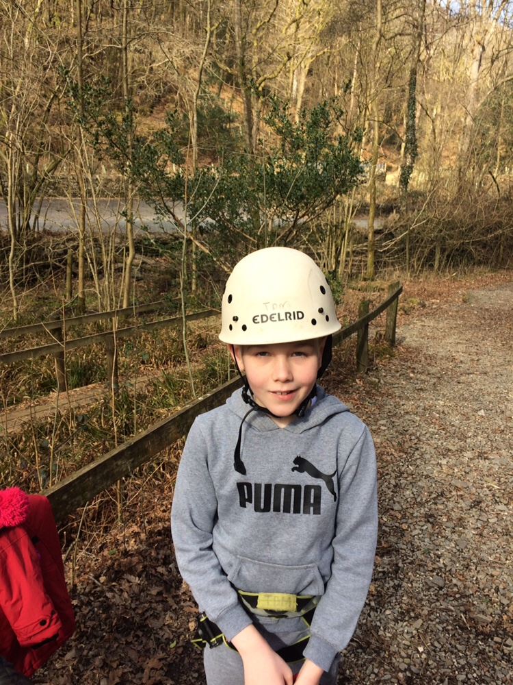 Abseiling and climbing in the sunshine