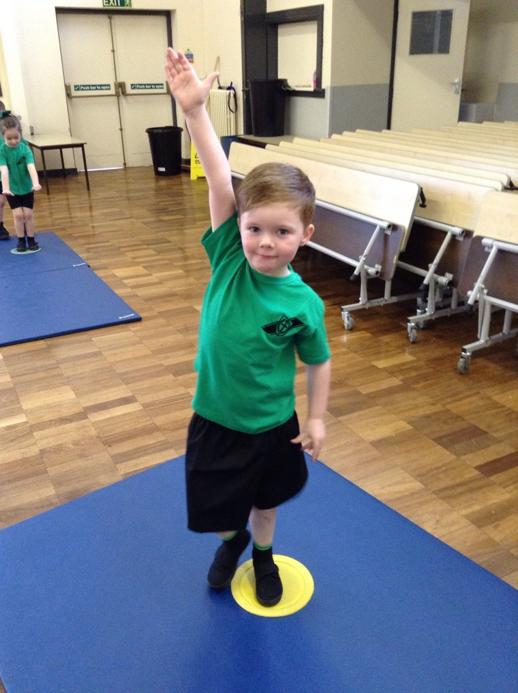 Gymnastics in Reception!