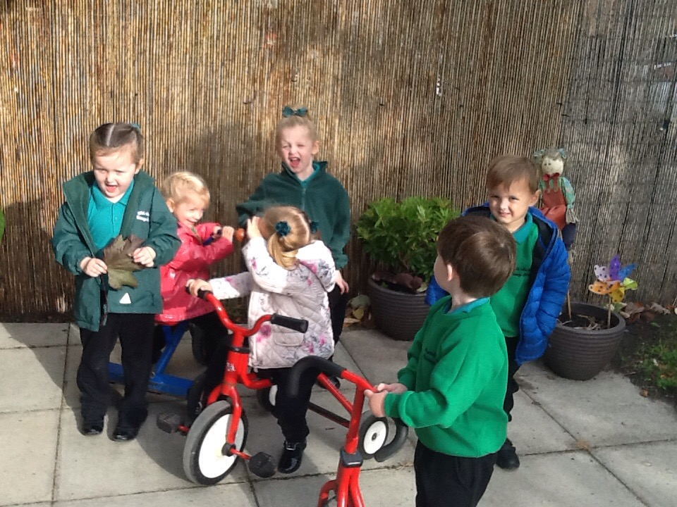 Fun outdoors in Nursery