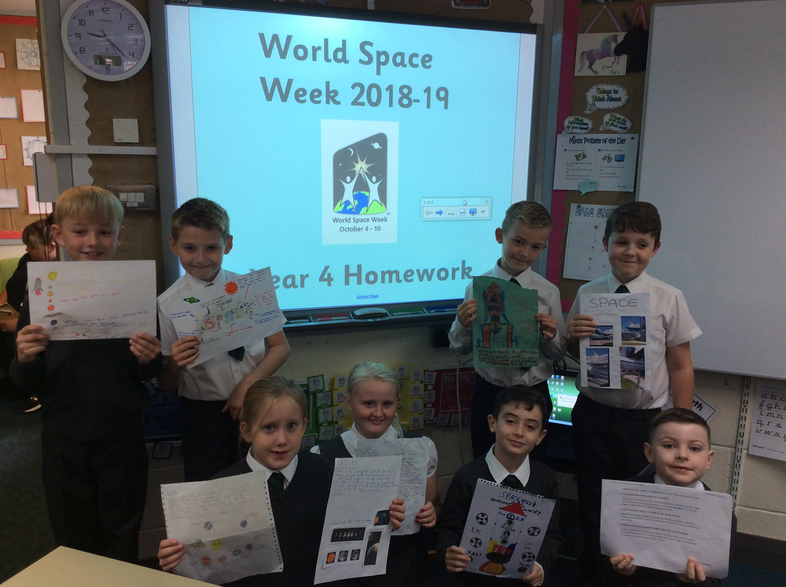 Year 4 World Space Week Homework
