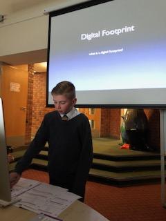 Digital leaders teach children about Digital Footprints
