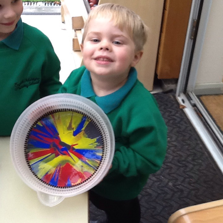 Nursery Firework Paint Pictures