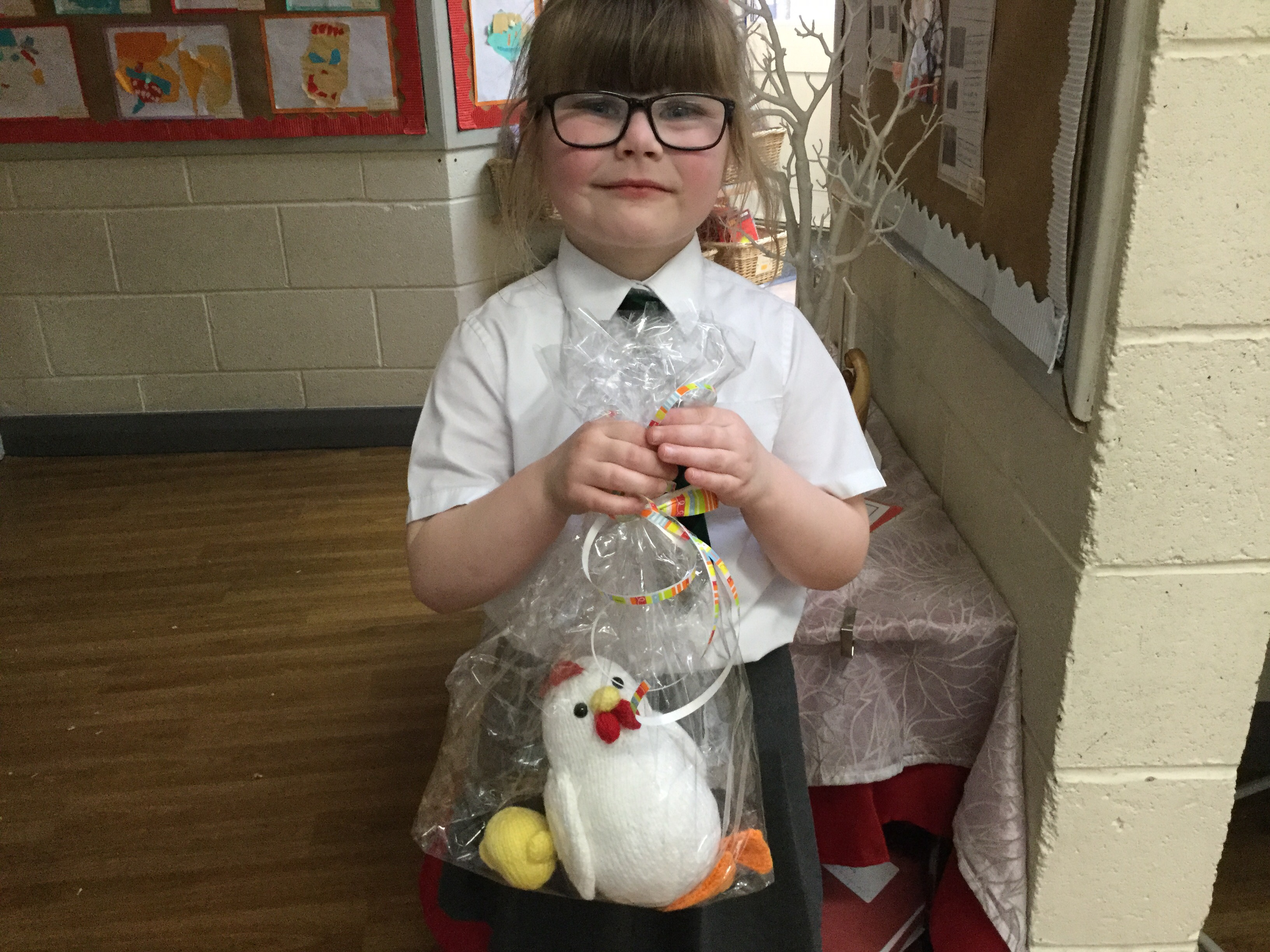 Y1 Guess the name of the chick winner…Ginger. Raised £90