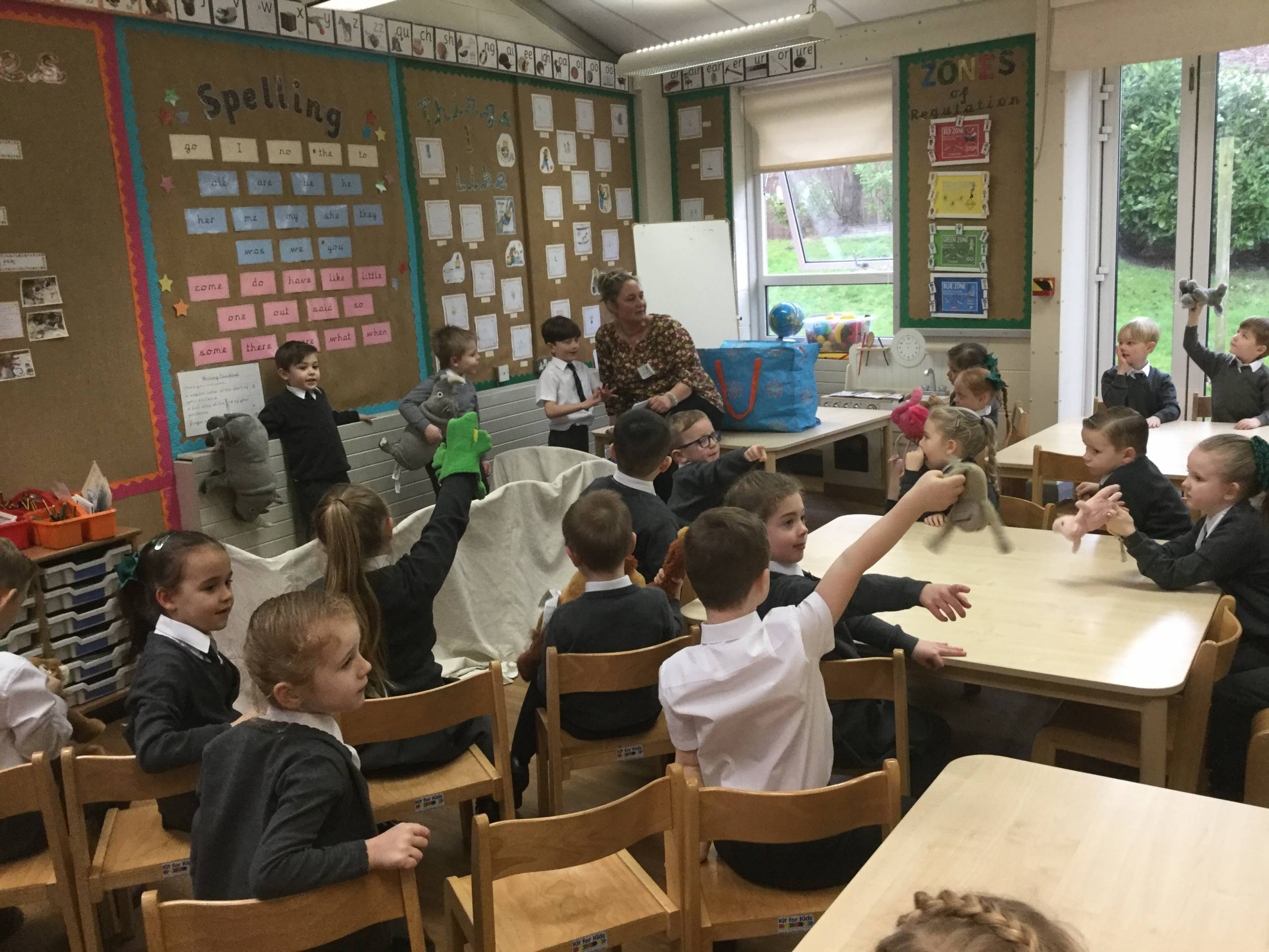 Great fun in Y1 with our visiting author.